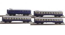 "ARNOLD 3302, 3312, 3313х2 (5801, 5802, 5803х2) - Пассажирские вагоны ""Rheingold"" - багажный, 1, 2 и 2 класс"