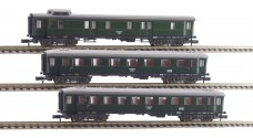 FLEISCHMANN 8130-8132 - Пассажирские вагоны тип 4ü - багажный, 1/2 и 3 класс