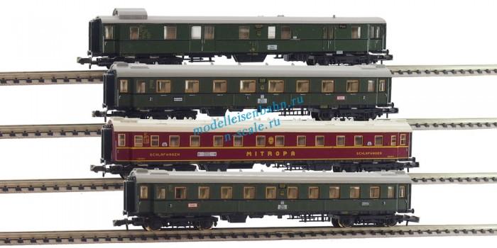 MINITRIX 13150, 13151, 13152, 13153 - Пассажирские вагоны - почтовый, спальный, 1/2 и 3 класс